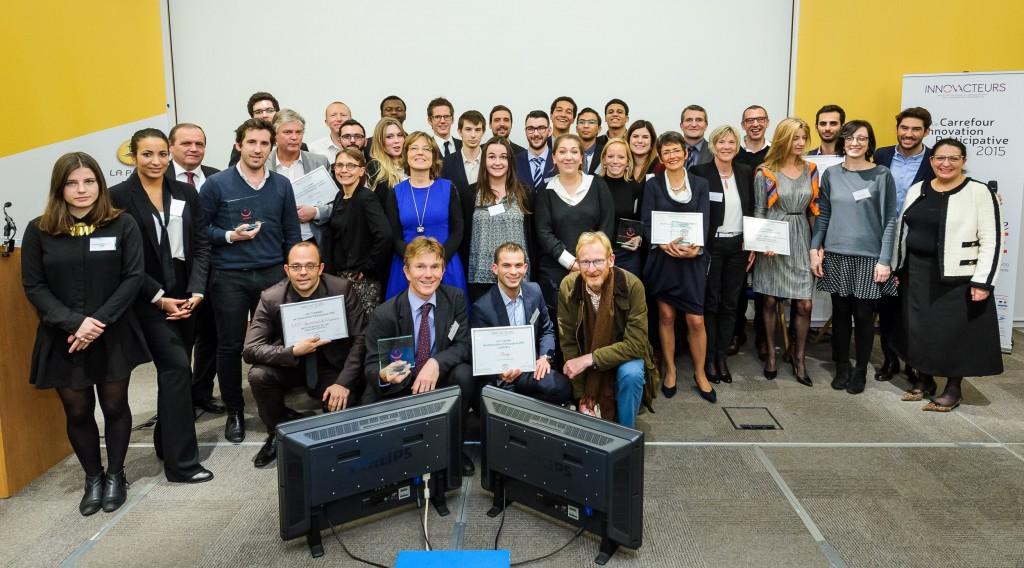 lauréats des Trophées de l'innovation participative 2015 - Innov'Acteurs (c) Vincent Colin